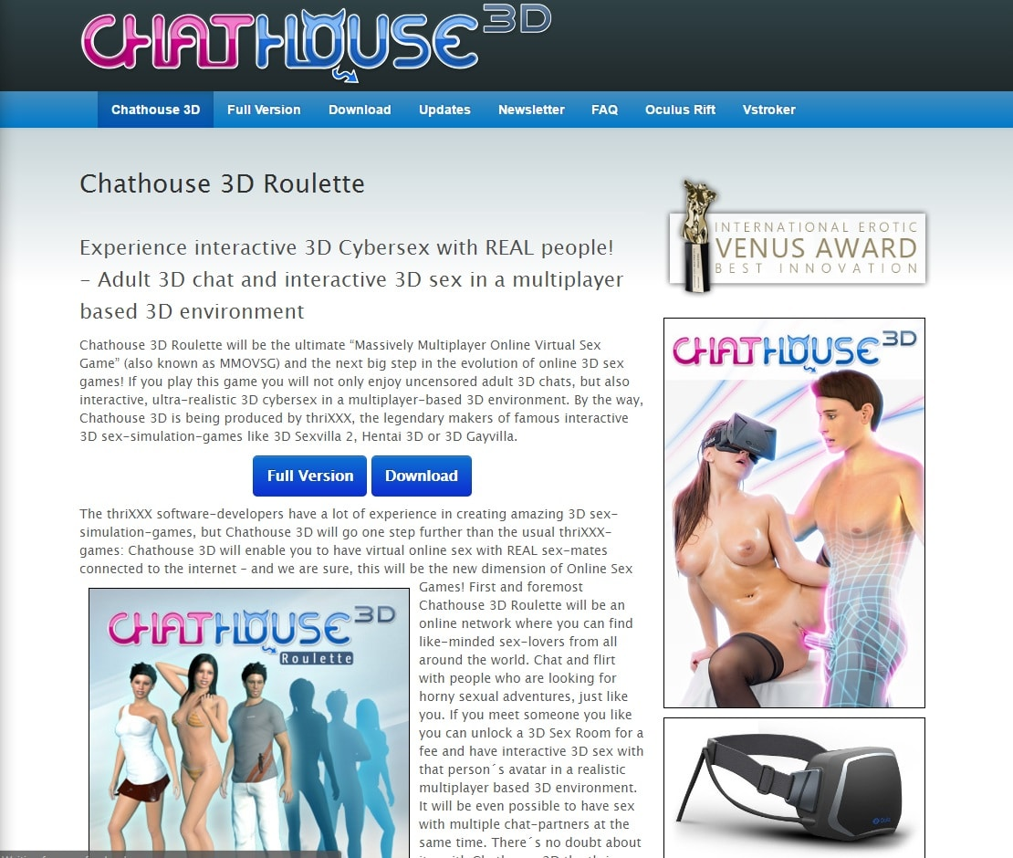 Porn Games Sites - Chat House 3D
