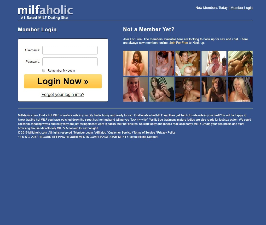Sex Dating Sites - Milfaholic