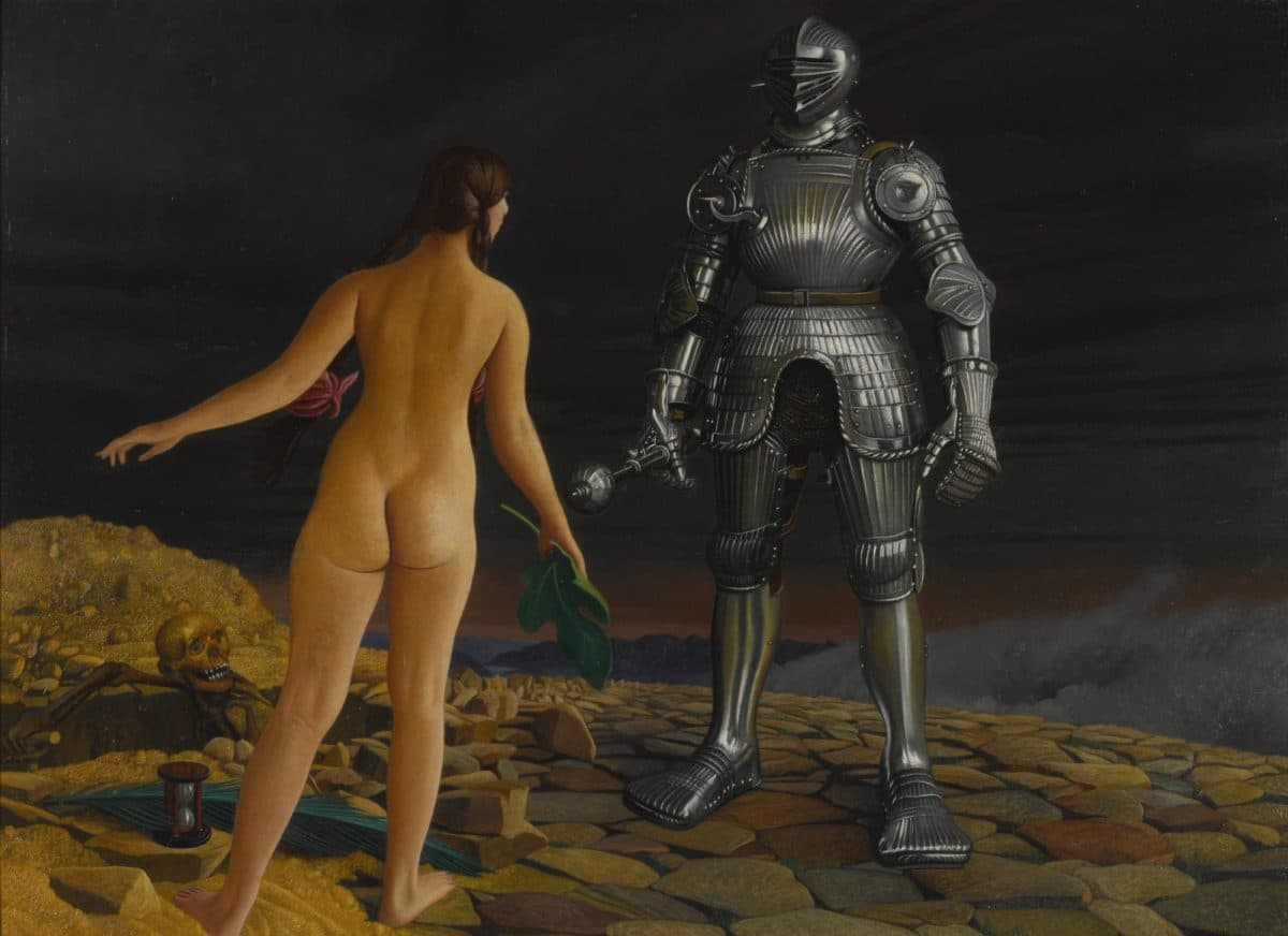 Naked Woman Vs Armored Man